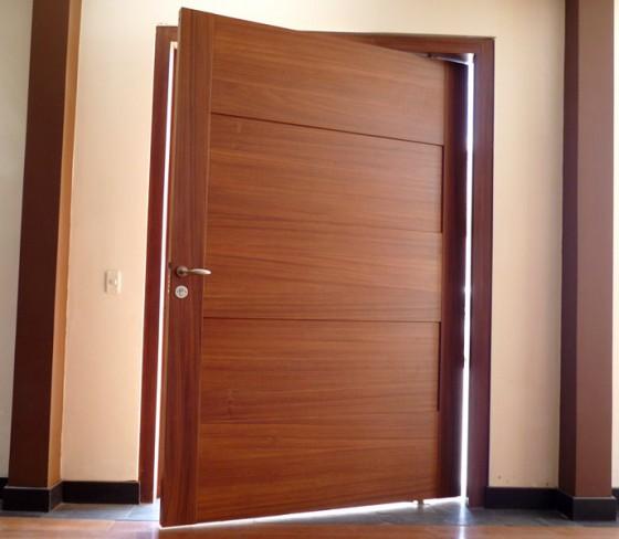 Puertas madera precios materiales de construcci n para for Precio puerta madera exterior